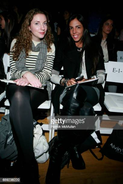 Jessica Iredale and Mayde Allena attend ALVIN VALLEY Fall 2009 Collection Show at The Altman Building on February 12 2009 in New York City