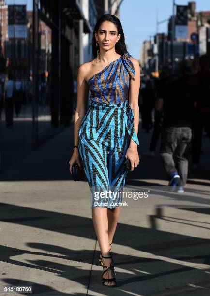 Jessica is seen wearing a DVF dress outside the DVF show during New York Fashion Week Women's S/S 2018 on September 10 2017 in New York City