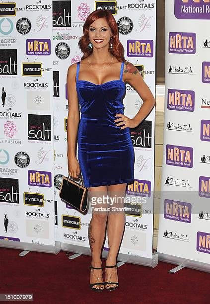 Jessica Jane Clements attends the National Reality TV Awards at Porchester Hall on August 30 2012 in London England