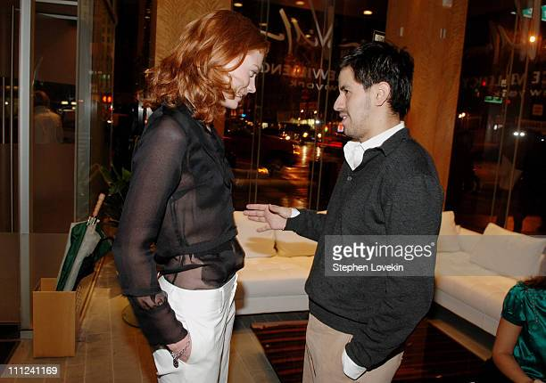 Jessica Joffe and Brian Reyes during Brian Reyes Clebrates His Spring 2006 Collection Hosted by Maurice Villency at Maurice Villency Showroom in New...
