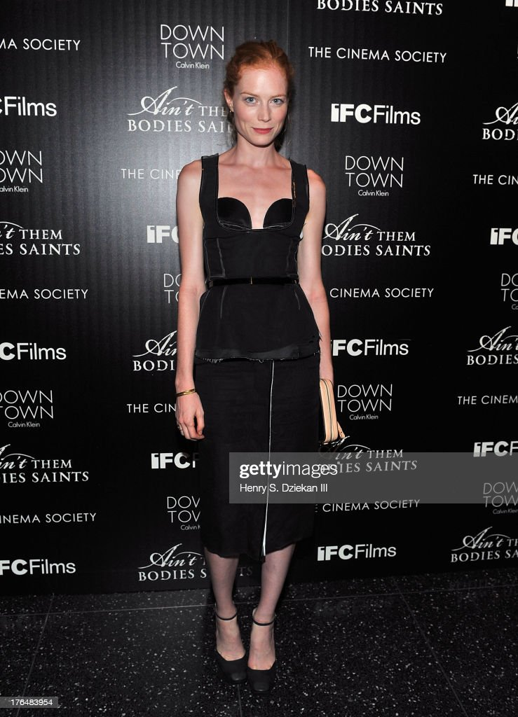 Jessica Joffe attends the Downtown Calvin Klein with The Cinema Society screening of IFC Films' 'Ain't Them Bodies Saints' at Museum of Modern Art on August 13, 2013 in New York City.