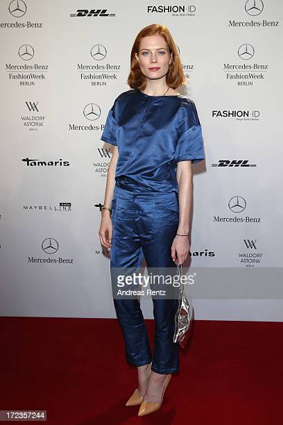 Jessica Joffe attends the Malaikaraiss Show during MercedesBenz Fashion Week Spring/Summer 2014 at Brandenburg Gate on July 2 2013 in Berlin Germany