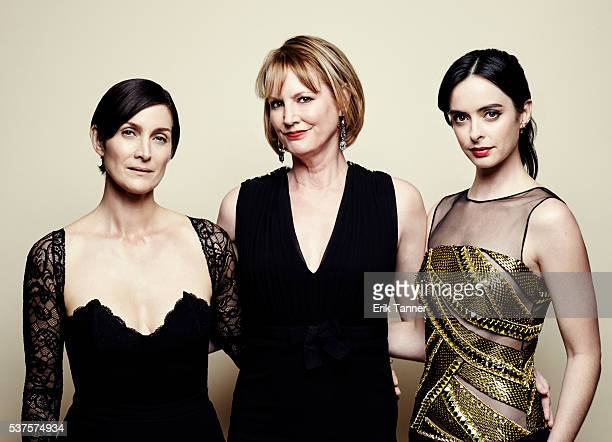 'Jessica Jones' actress CarrieAnne Moss creator and show runner Melissa Rosenberg and actress Krysten Ritter pose for a portrait at the 75th Annual...