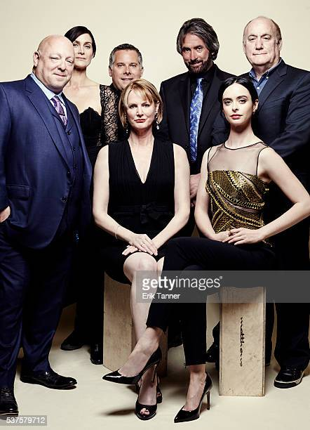 'Jessica Jones' actress CarrieAnne Moss creator and show runner Melissa Rosenberg actress Krysten Ritter and others pose for a portrait at the 75th...