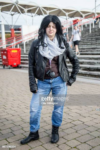 Jessica Jones cosplayer during MCM London Comic Con 2017 held at the ExCel on October 28 2017 in London England