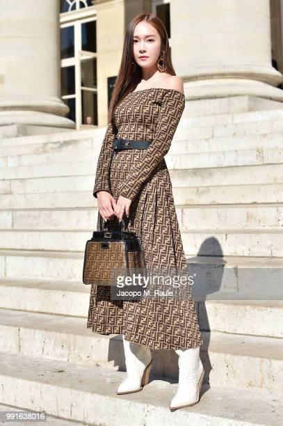Jessica Jung attends Fendi Couture during Paris Fashion Week Haute Couture Fall Winter 2018/2019 on July 4 2018 in Paris France
