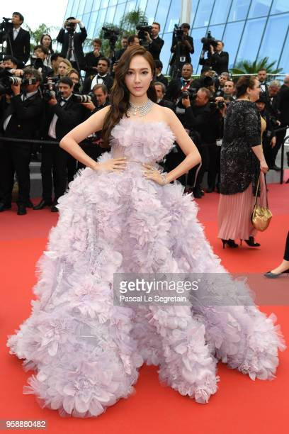 Jessica Jung attends the screening of Solo A Star Wars Story during the 71st annual Cannes Film Festival at Palais des Festivals on May 15 2018 in...