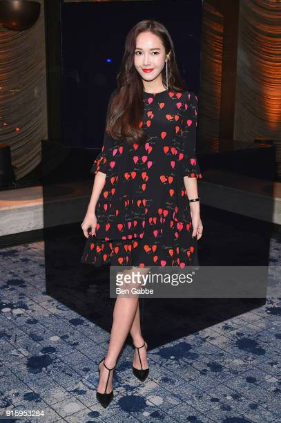 Jessica Jung attends the Stuart Weitzman FW18 Presentation and Cocktail Party at The Pool on February 8 2018 in New York City