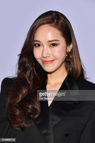 Jessica Jung attends the Tom Ford Women's Fall/Winter 2018 fashion show during New York Fashion Week at Park Avenue Armory on February 8 2018 in New...