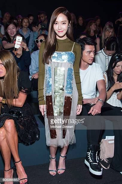 Jessica Jung attends the Vera Wang Collection fashion show during September 2016 New York Fashion Week The Shows at The Arc Skylight at Moynihan...