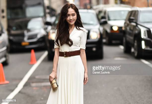 Jessica Jung is seen outside the Ralph Lauren show during New York Fashion Week Women's A/W 2018 on February 12 2018 in New York City