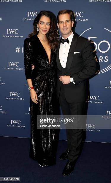 Jessica Kahawaty and IWC Schaffhausen CEO Christoph GraingerHerr attend the IWC Schaffhausen Gala celebrating the Maison's 150th anniversary and the...