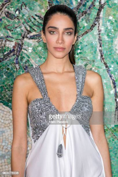 Jessica Kahawaty attends Louis Vuitton 2019 Cruise Collection at Fondation Maeght on May 28 2018 in SaintPaulDeVence France