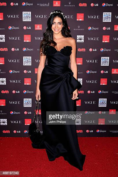 Jessica Kahawaty attends the Gala Event during the Vogue Fashion Dubai Experience on October 31 2014 in Dubai United Arab Emirates