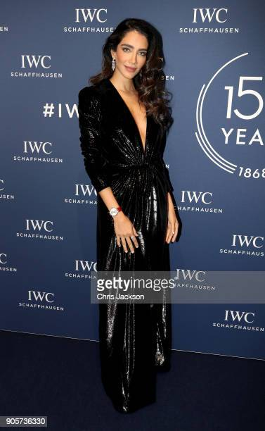 Jessica Kahawaty attends the IWC Schaffhausen Gala celebrating the Maison's 150th anniversary and the launch of its Jubilee Collection at the Salon...