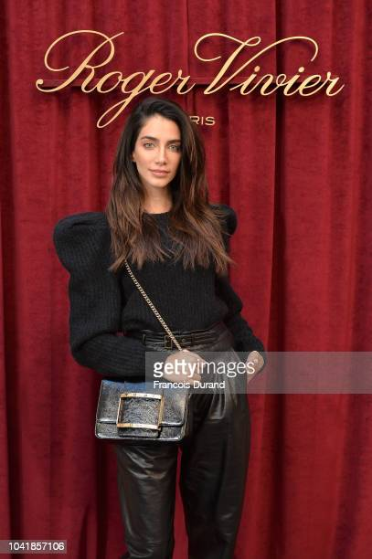Jessica Kahawaty attends the Roger Vivier Presentation Spring/Summer 2019 during Paris Fashion Week on September 27 2018 in Paris France