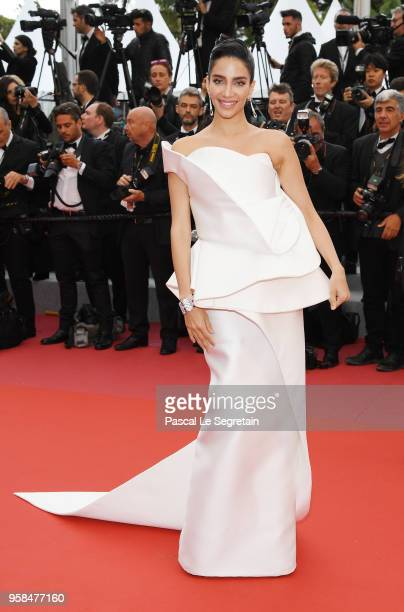 Jessica Kahawaty attends the screening of 'BlacKkKlansman' during the 71st annual Cannes Film Festival at Palais des Festivals on May 14 2018 in...