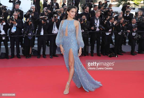 Jessica Kahawaty attends the screening of 'Capharnaum' during the 71st annual Cannes Film Festival at Palais des Festivals on May 17 2018 in Cannes...