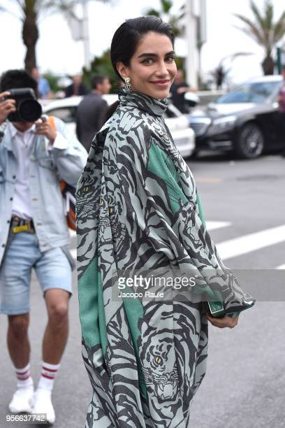 Jessica Kahawaty is seen at Hotel Martinez during the 71st annual Cannes Film Festival at on May 9 2018 in Cannes France