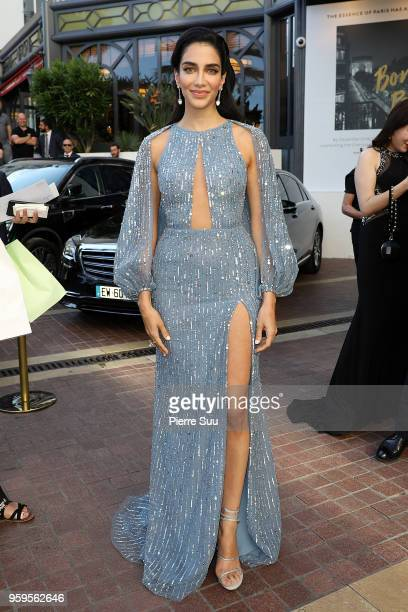 Jessica Kahawaty is seen at 'Le Majestic' hotel during the 71st annual Cannes Film Festival at on May 17 2018 in Cannes France