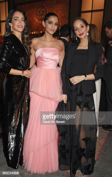 Jessica Kahawaty Sonam Kapoor and Lana El Sahely attend the IWC Schaffhausen Gala celebrating the Maison's 150th anniversary and the launch of its...