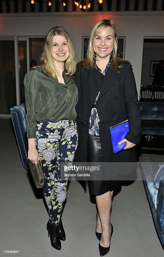 Jessica Kantor and Hillary Kerr attend Eva Mendes Exclusively at New York & Company Spring launch dinner at Chateau Marmont on March 18, 2014 in Los Angeles, California.