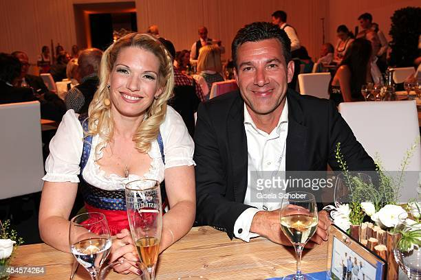 Jessica Kastrop and Charlie Steeb attend the Camp Beckenbauer After Golf Party at Hotel Stanglwirt on September 3 2014 in Going near Kitzbuehel...