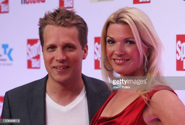 Jessica Kastrop and Oliver Pocher attend the Sport Bild Award 2011 at the Fischauktionshalle on August 8, 2011 in Hamburg, Germany.