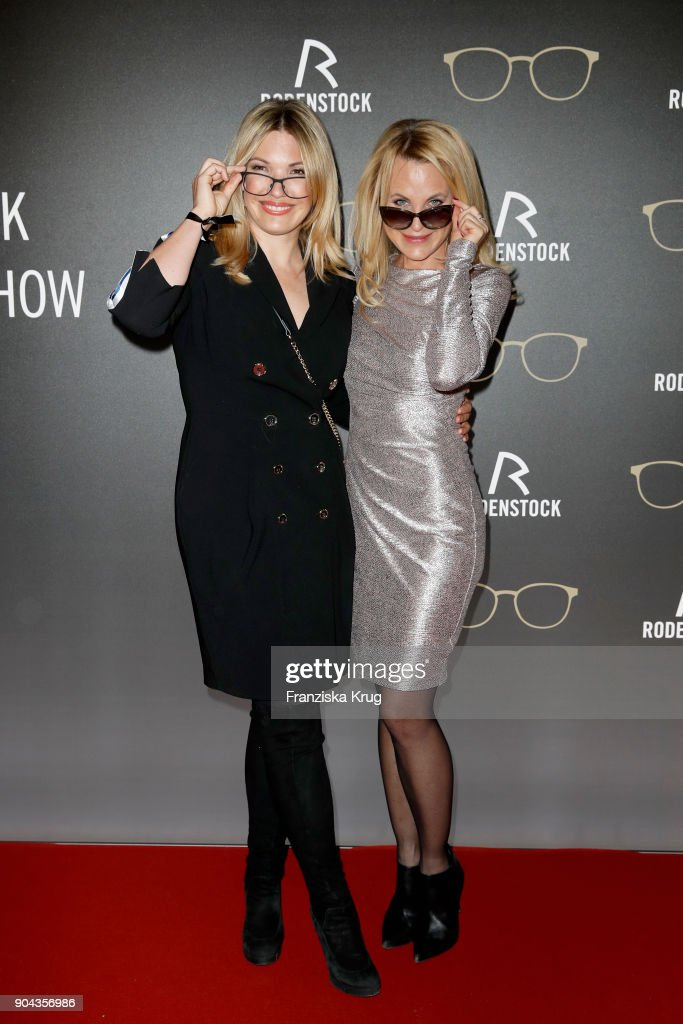 Jessica Kastrop and Sonja Kiefer during the Rodenstock Eyewear Show on January 12, 2018 in Munich, Germany.