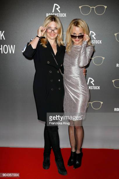 Jessica Kastrop and Sonja Kiefer during the Rodenstock Eyewear Show on January 12 2018 in Munich Germany
