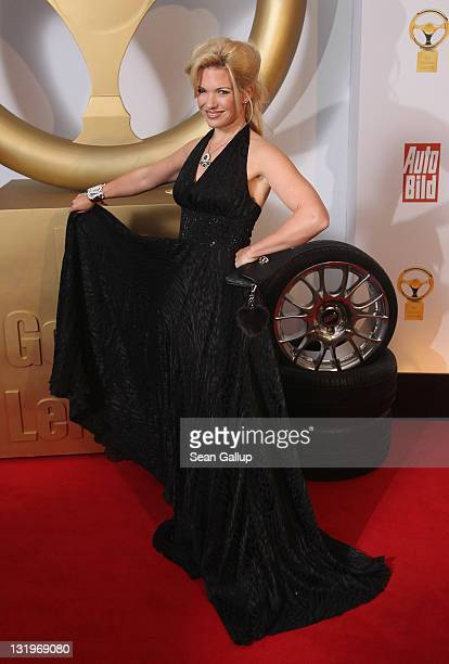 "Jessica Kastrop attends ""Das Goldene Lenkrad 2011"" Awards at Axel-Springer Haus on November 9, 2011 in Berlin, Germany."