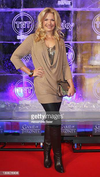 Jessica Kastrop attends 'Games of Thrones' Preview Event of TNT Serie and Sky at Hotel Bayerischer Hof on October 27, 2011 in Munich, Germany. The...