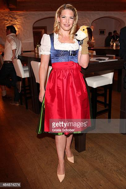 Jessica Kastrop attends the Camp Beckenbauer After Golf Party at Hotel Stanglwirt on September 3 2014 in Going near Kitzbuehel Austria