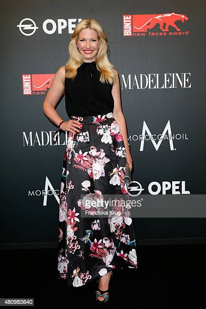 Jessica Kastrop attends the MADELEINE At New Faces Award Fashion 2015 on July 16 2015 in Munich Germany