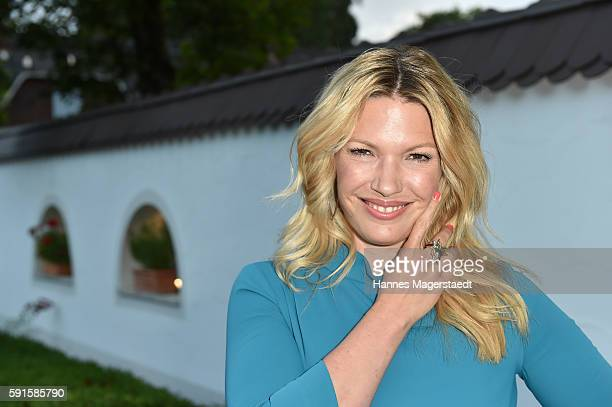 Jessica Kastrop during 'La Dolce Vita Grillfest' at Gruenwalder Einkehr on August 17, 2016 in Munich, Germany.