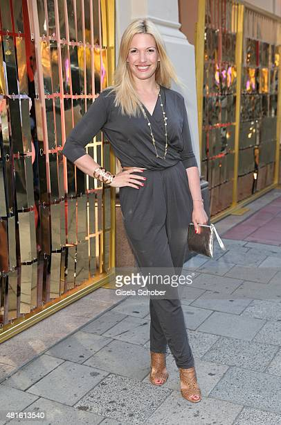 Jessica Kastrop during the Eclat Dore summer party at Hotel Vier Jahreszeiten on July 22 2015 in Munich Germany