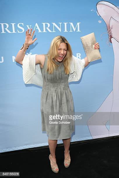 Jessica Kastrop during the Iris von Arnim by Unuetzer launch party of the cashmere sneaker at Bob Beaman Club on July 5 2016 in Munich Germany