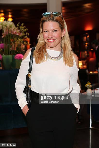 Jessica Kastrop during the presentation of the book 'Zu Gast in Griechenland Rezepte Kueche Kultur' at 'The Charles' Hotel on June 20 2016 in Munich...