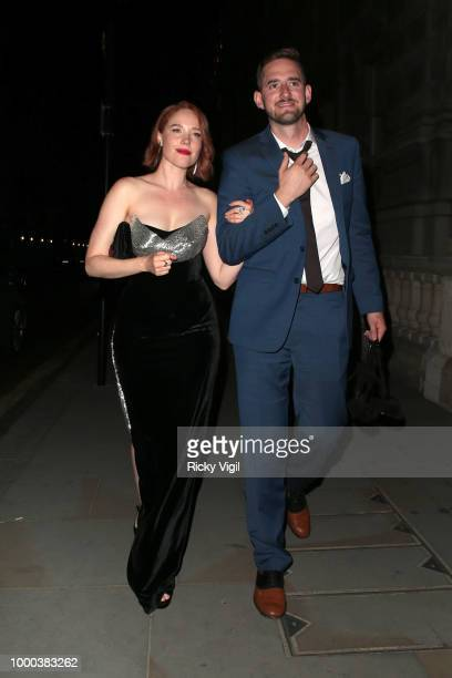 Jessica Keenan Wynn seen arriving at her hotel after attending Mamma Mia Here We Go Again UK film premiere afterparty at Hammersmith Apollo on July...