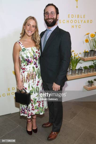 Jessica Kempner and Jacob Zachs attend Edible Schoolyard NYC 2018 Spring Benefit at 180 Maiden Lane on April 16 2018 in New York City