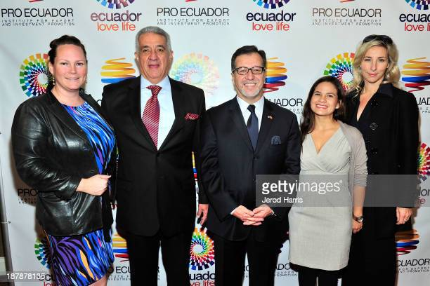 Jessica Kill Ecuador's Los Angeles Trade Commisioner Dick Vega Ecuador's Los Angeles General Consul Eddie Bedon Business Matchmaking coordinator...