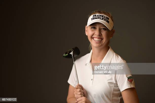 Jessica Korda of the United States poses for a portrait at the Park Hyatt Aviara Resort on March 22 2017 in Carlsbad California