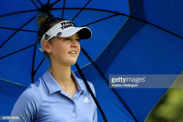 Jessica Korda of the United States walks on the ninth hole during round one of the HSBC Women's World Championship at Sentosa Golf Club on March 1...