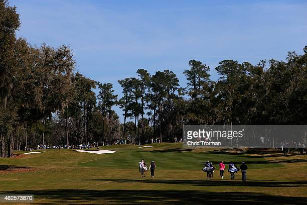 Jessica korda walks down the 2nd fairway at the Coates Golf Championship Presented by RL Carriers Final Round at the Golden Ocala Golf Equestrian...
