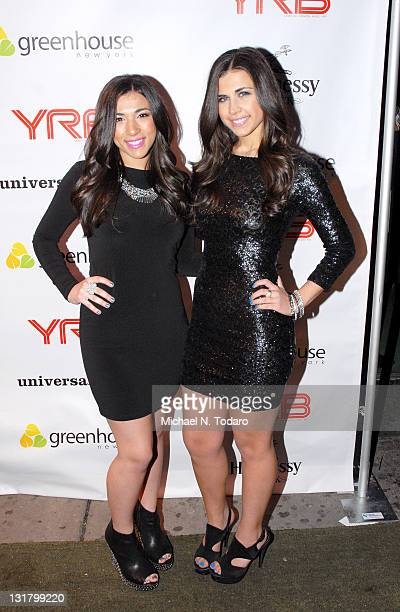 Jessica Labbadia and Melissa Labbadia of L2 attend Ray J's YRB Magazine Cover & 30th birthday celebration at Greenhouse on January 20, 2011 in New...