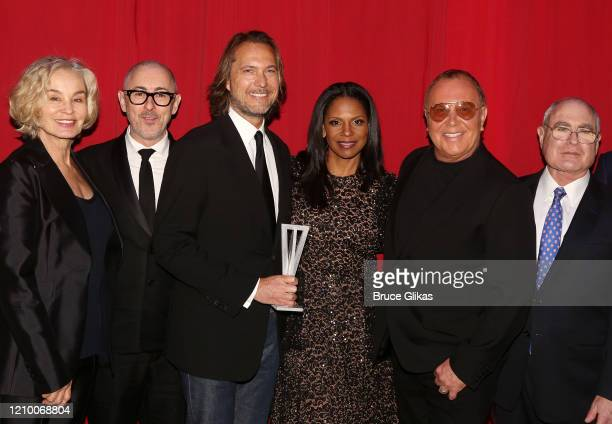 Jessica Lange, Alan Cumming, Lance LePere, Audra McDonald, Michael Kors and Artistic Director/CEO of Roundabout Theater Company Todd Haimes pose at...