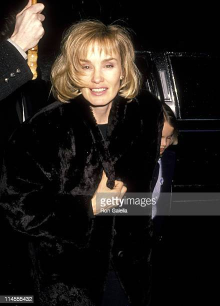 Jessica Lange and Daughter Alexandra Baryshnikov during 'Men Don't Leave' Screening Party January 29 1990 at Regency Hotel in New York City New York...