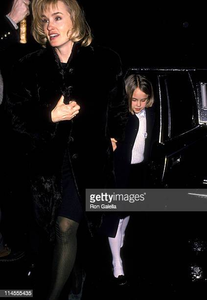 Jessica Lange and Daughter Alexandra Baryshnikov during Men Don't Leave Screening Party January 29 1990 at Regency Hotel in New York City New York...