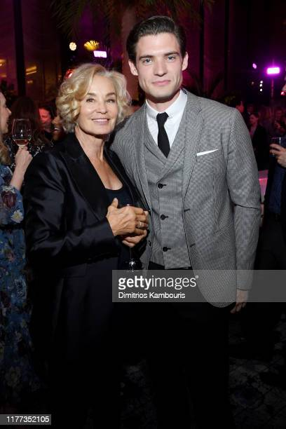 Jessica Lange and David Corenswet attend Netflix's The Politician Season One Premiere After Party at THE POOL on September 26 2019 in New York City