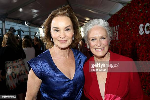 Jessica Lange and Glenn Close attend 70th Annual Tony Awards Arrivals at Beacon Theatre on June 12 2016 in New York City